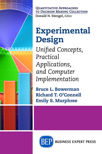 Experimental Design: Unified Concepts, Practical Applications, and Computer Implementation