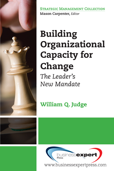 Building Organizational Capacity For Change The Leaders New